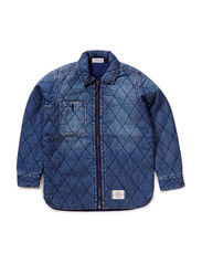Robin quilted denim shirt - Sky Denim