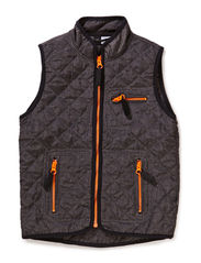 Preston quilted nylon vest - Flint melange