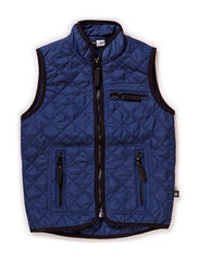 Preston quilted nylon vest - Indigo navy