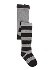 Lurex Stripe Tights - GREY MELANGE