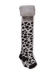 Animal Dot Tights - Grey melange