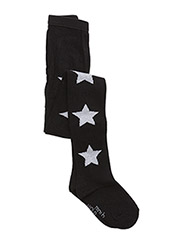 Graphic Star Tights - BLACK