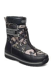MB MOON BOOT LEM MILITARY CAMU - NERO-BOSCO