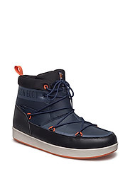 MOON BOOT NEIL WP - D.BLUE-BLACK-ORANGE