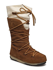 MOON BOOT W.E. ANVERSA WOOL WP - WHISKEY-CREAM
