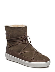 MOON BOOT PULSE LOW SHEARLING - MILITARY GREEN