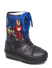 MB MOON BOOT POD JR AVENGERS - BLACK-NAVY-RED
