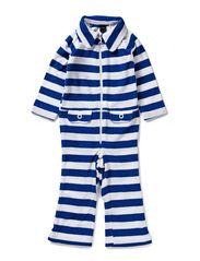 Moonkids Striped zipsuit