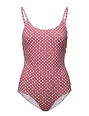 Leola Pattern Swimsuit - CERISE