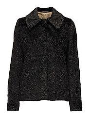 Noblesse Fur Coat - BLACK
