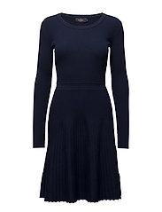 Alexandrine Knit Dress - NAVY