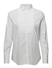 Dietrich Tuxedo Shirt - WHITE