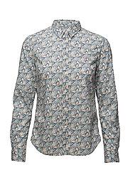 Lily Liberty Fuilles Shirt - BLUE