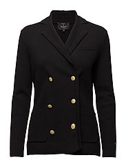 Anne Knit Blazer - BLACK