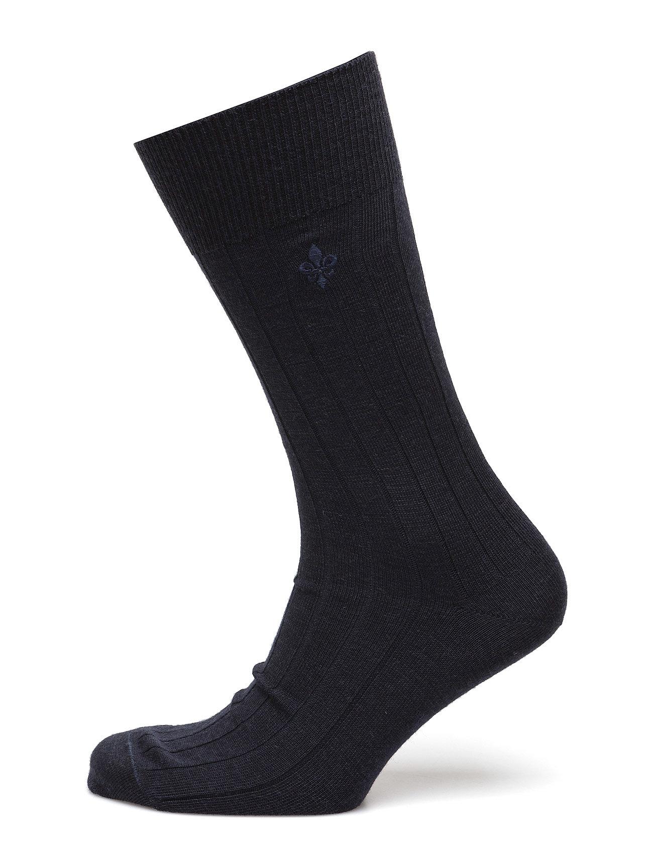 Morris Wool Rib Socks Morris Sokker til Herrer i Navy blå