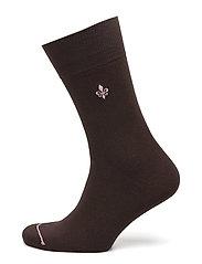 Morris Solid Socks - BROWN