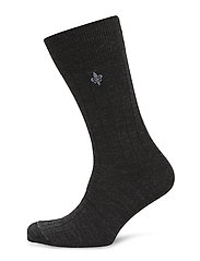 Morris Wool Rib Socks - GREY