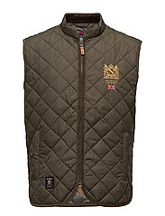 Trenton Quilted Vest - OLIVE