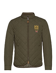 Trenton Quilted Jacket - OLIVE