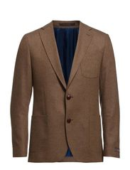 Heringbone Blazer - Brown