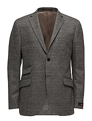 Merino Check Blazer - GREY
