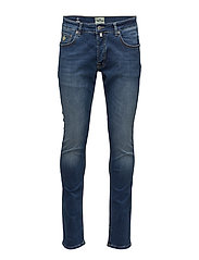 Steve Satin Jeans - SEMI DARK WASH