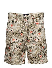 Morris Flower Shorts - OFF WHITE
