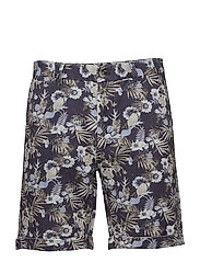 Jerome Linen Shorts - BLUE