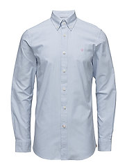 Oxford Striped Button Down - LIGHT BLUE