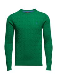 Merino Cable Oneck - Green