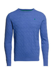Merino Cable Oneck - Light Blue