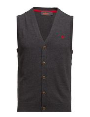 Merino Vest Knit - Grey