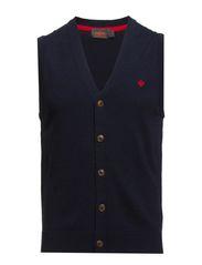 Merino Vest Knit - navy