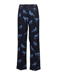 Week Animal Pant - NAVY PRINT
