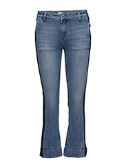 Ivana Stripe Jeans - LIGHT BLUE DENIM