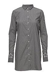 Catrina Stripe Shirt - GREY STRIPE