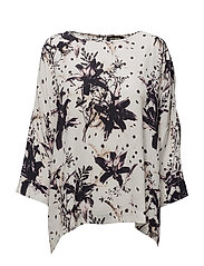 Costa Lily Blouse - OFFWHITE PRINT