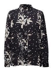 Key Lily Shirt - NAVY PRINT
