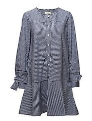 Melody Dress - VINTAGE BLUE STRIPE