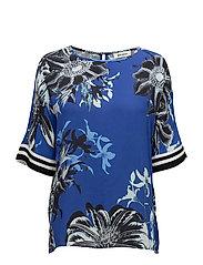 Palma Fleur Blouse - INDIGO BLUE