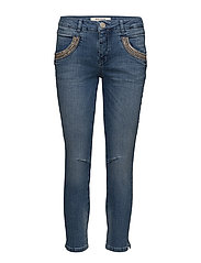 Naomi Shine Split 7/8 - LIGHT BLUE DENIM
