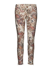 Victoria Flower 7/8 Printed - OFFWHITE FLOWER PRINT