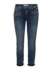 Berlin Zip 7/8 Jeans - BLUE DENIM