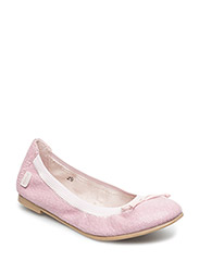 Girls Elastic Ballerina w/bow - MOTHER OF PEARL 502