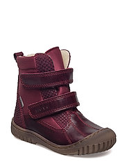 Infant - TEX boot with velcro - 783/DARKBURGUNDY