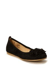 Girls Flower Ballerina - Black