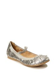 Girls Glitter Ballerina - Silver Glitter