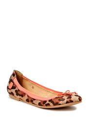 Girls Elastic Ballerina w/bow - Leopard