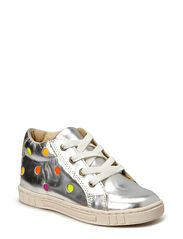 Girls Dotted Basket - Silver