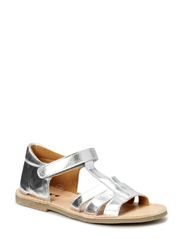 Girls Closed Back Open toe san - Silver